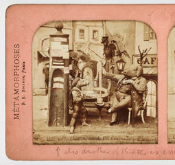 Un petit chousi vous ple  Va travailler petit faineant'  c 1865 .