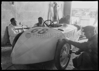 Mechanics with DKW Special racing car  Nurburgring  Germany  1931.