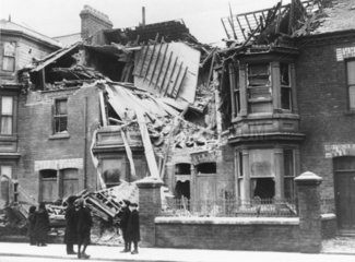 Bomb damage  West Hartlepool  World War One  1914-1918.