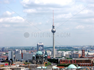 View over Berlin from the tethered balloon ride  Germany  2004.