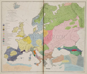 'Ethnographical Map of Europe  in the Earliest Times'  1843.