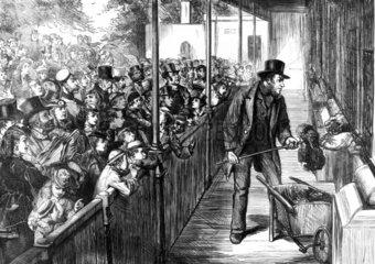 Bank holiday at the zoo  London  1871.