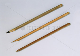 Three reed pens.