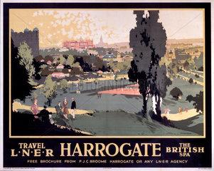 'Harrogate'  LNER poster  1930.