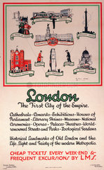 'London  The First City of the Empire'  LMS poster  1929.