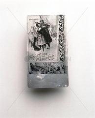 Aluminium picture postcard  c 1900.