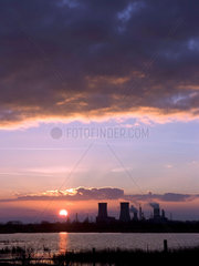 Cooling towers at dusk  Haverton Hill area  Middlesbrough  2005.