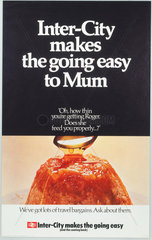 'Inter-City makes the going easy to Mum'  BR (Inter-City) poster  1970.