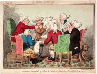 'A Canal Meeting'  1797.