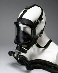 Breathing apparatus with full-face rubber mask  c 1980.