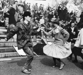 First London-Aldermaston march  London  April 1958.