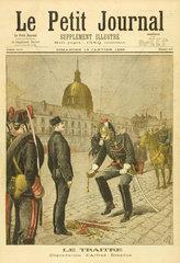 Dreyfus the Traitor  13 January 1895.