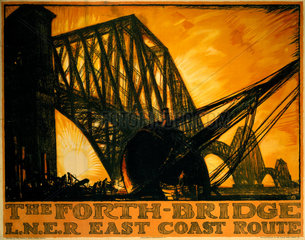 'The Forth Bridge'  LNER poster  1923-1947.