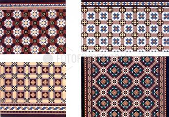 Ornamental tiles  1876.