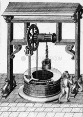 Windlass for raising water  c 1588.