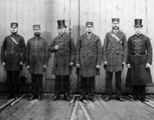 London  Brighton & South Coast Railway staff.