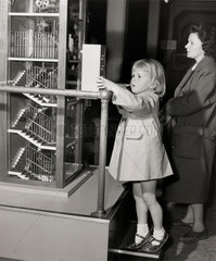 Children and apparatus in the Children's Gallery  Science Museum  1963.