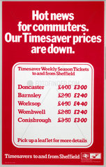 'Hot News for Commuters - Our Timesaver Prices are Down'  1977.