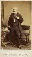 Victor Marie Hugo  French poet  novelist and dramatist  c 1860s.