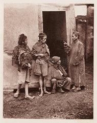 'Beggars'  c 1871.