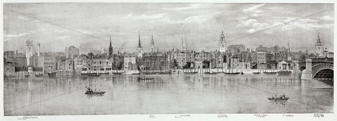 From the Steel Yard to St Michael College Hill  London  1825.