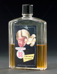 Bottle of 'Shampoo 88 French-style' shampoo  1950s.