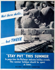 'Stay Put This Summer'  REC poster  1939-19