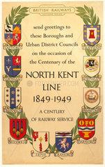 'North Kent Line 1849 - 1949'  BR(SR) poste