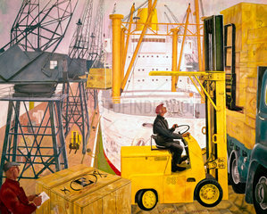 Mechanical handling at the docks  1963.