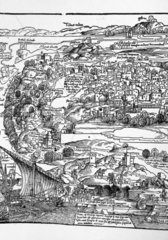 Von Breydenbach's map of Jerusalem  Palestine  1486.