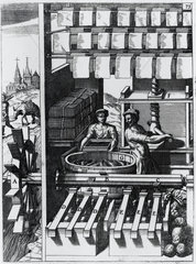 Papermaking  Germany  1662.