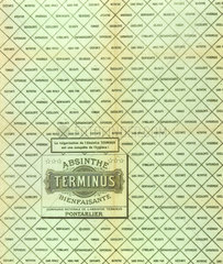 Absinthe Terminus wrapper  c 1900.