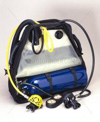 The Mini Breather scuba backpack  2001.