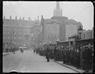 Queue of unemployed people  1932.
