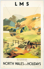 'North Wales for Holidays'  LMS poster  c 1930s.