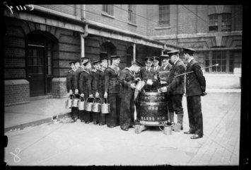 Sailors 'splicing the mainbrace'  1933.