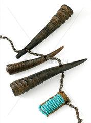 Amulet necklace  West Africa  1880-1920.