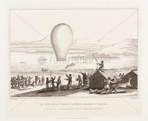The first balloon ascent in the Arctic Circle  c 1819.
