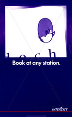 'Book at any station'  BR poster  1990.