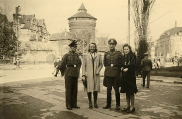 German Army couples  Tours  France  1940s.