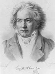 Ludwig van Beethoven  German composer  1817.