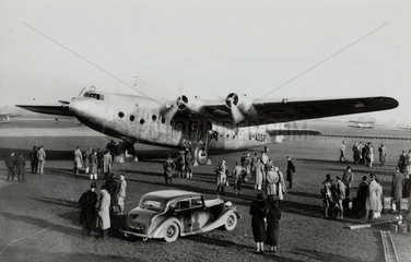 Ensign prototype G-ADSR at Croydon Airport   Greater London  c 1930s.