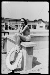 Woman at a swimming baths  1934.
