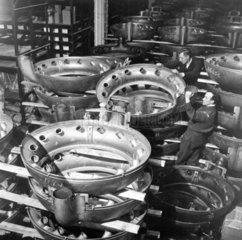'Exhaust manifold in storage'  21 March 194