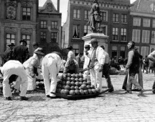Traditional Dutch cheese festival at Gouda