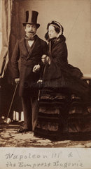 Napoleon III and the Empress Eugenie of France  c 1865.