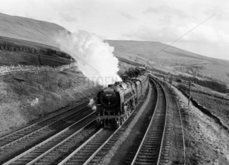 'Moray Firth' British Railways 4-6-2 steam locomotive No 70053  c 1957.