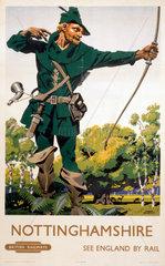 'Nottinghamshire'  BR poster  1948-1951.