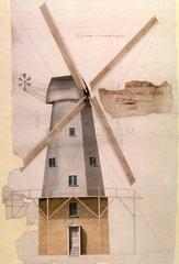 'Mr Pilcher's Windmill at Margate'  Kent  1816.