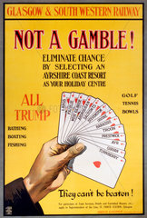 'Not a Gamble!'  GSWR poster  1910.
